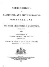 Astronomical and magnetical and meteorological observations made at the Royal Observatory, Greenwich: in the year ...