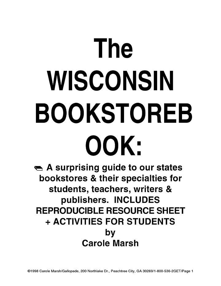 The Wisconsin Bookstore Book