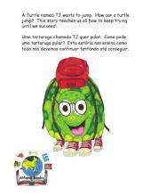 Turtle Jumps! Brazil Version A Tartaruga Pula: A Tale of Determination Um conto de Determinação.