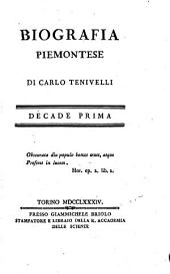 Biografia Piemontese: Volume 1