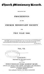Proceedings of the Church Missionary Society for Africa and the East...: Volume 7
