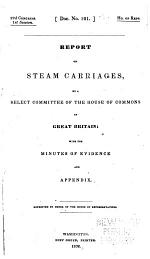 Report on Steam Carriages