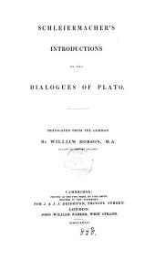 Schleiermacher's Introductions to the Dialogues of Plato