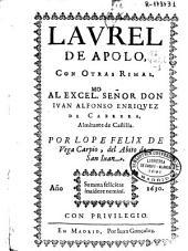 Laurel de Apolo con otras rimas ...