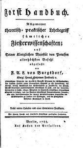 Forsthandbuch: Band 1