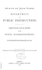 Annual Report of the State Superintendent of Public Instruction: Issue 39