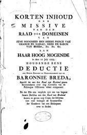 Verzameling van stukken betreffende de Baronie van Breda: Volume 5