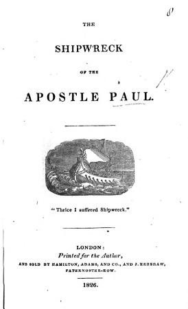 The Shipwreck of the Apostle Paul PDF