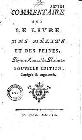 Commentaire sur le livre des délits et des peines (1766)