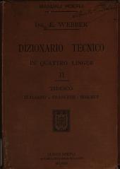 Dizionario tecnico in quattro lingue: Volume 2