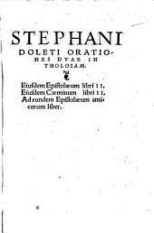 Orationes II in Tholosam
