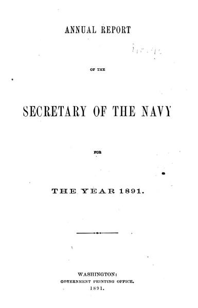 Download Annual Reports of the Navy Department Book