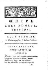 Oedipe chez Admète: tragédie