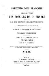 Paléontologie française: description zoologique et géologique de tous les animaux mollusques et rayonnés fossiles de France : comprenant leur application à la reconnaissance des couches, Volume11,Partie1