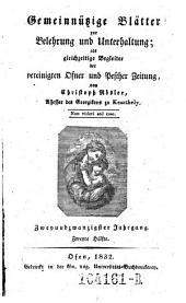 Gemeinnützige Blätter zur Belehrung und Unterhaltung; als gleichzeitige Begleiter der vereinigten Ofner und Pester Zeitung von Christoph Rösler: Band 17