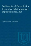Rudiments of Plane Affine Geometry: Mathematical Expositions