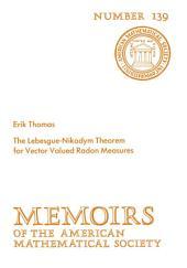 The Lebesgue-Nikodym Theorem for Vector Valued Radon Measures