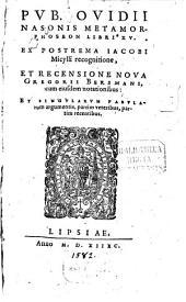 Pvb. Ovidii Nasonis Metamorphoseon Libri XV.