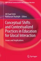 Conceptual Shifts and Contextualized Practices in Education for Glocal Interaction PDF