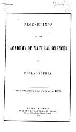 Proceedings of the Academy of Natural Sciences of Philadelphia