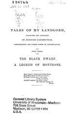 Waverley Novels Black Dwarf A Legend Of Montrose 1860 Book PDF