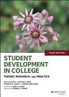 Student Development in College PDF