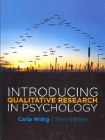 Introducing Qualitative Research In Psychology PDF