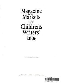 Magazine Markets for Children s Writers 2006 PDF