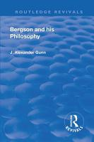 Revival  Bergson and His Philosophy  1920  PDF