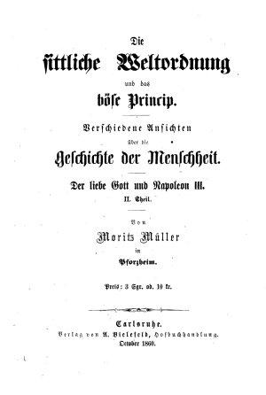 Die sittliche Weltordnung und das b  se Princip PDF