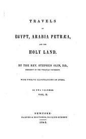 Travels in Egypt, Arabia Petræa, and the Holy Land: Volume 2
