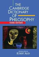 The Cambridge Dictionary of Philosophy PDF