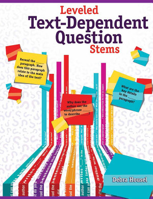 Leveled Text Dependent Question Stems PDF