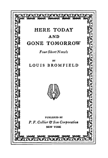 Here Today and Gone Tomorrow Book