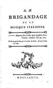 Le brigandage de la musique italienne