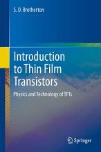 Introduction to Thin Film Transistors PDF