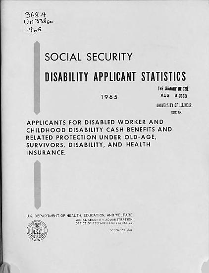Social Security Disability Applicant Statistics PDF
