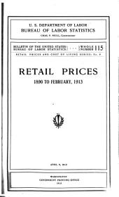 Retail Prices and Cost of Living Series ...: Issues 6-13