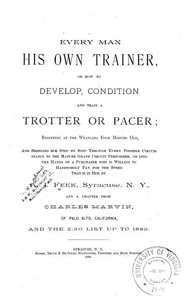 Every Man His Own Trainer  Or