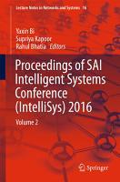 Proceedings of SAI Intelligent Systems Conference  IntelliSys  2016 PDF