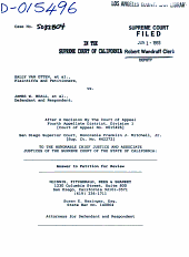 California. Supreme Court. Records and Briefs: S032804, Answer to Petition for Review (Supreme Court)