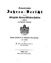 Jahresbericht des Königlichen Central-Blinden-Instituts München: 1861/62