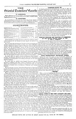 Cooks Oriental Travellers Gazette And Home Foreign Advertiser