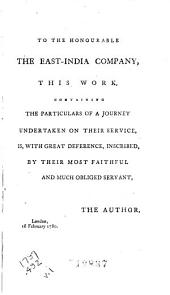A series of adventures in the course of a voyage up the Red-Sea: on the coasts of Arabia and Egypt; and of a route through the desarts of Thebais, in the year 1777. With a supplement of a voyage from Venice to Latichea; and of a route through the desarts of Arabia, by Aleppo, Bagdad, and the Tygris to Busrah, in the years 1780 and 1781. In letters to a lady, Volume 1