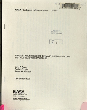 Space Station Freedom  Dynamic Instrumentation for a Large Space Structure