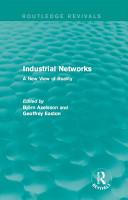 Industrial Networks  Routledge Revivals  PDF