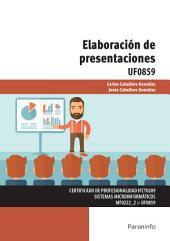 UF0859 - Elaboración de presentaciones