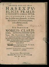 Conclusiones circa interpretationem C. de rebus ecclesiae non alienandis