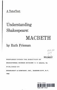 Understanding Shakespeare   Macbeth PDF