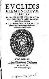 Euclidis Elementorum Libri XV.
